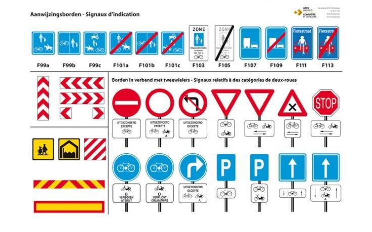 Panelen met alle verkeersborden - Uitrusting rijschool ...